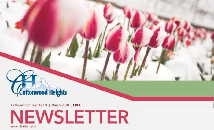March newsletter slider
